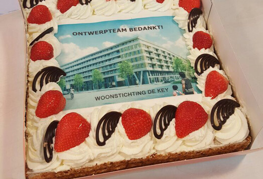 Outstanding Pieters Amsterdam Gets A Cake From The Client Pieters Bouwtechniek Personalised Birthday Cards Epsylily Jamesorg