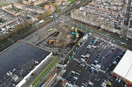 Plaza West in Haarlem is progressing steadily