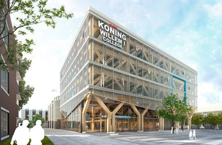 Sustainable eye-catcher for the Koning Willem I College
