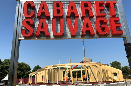 Cabaret sauvage, a wooden theater in Paris
