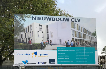 Unveiling of the Christian Lyceum Veenendaal building board