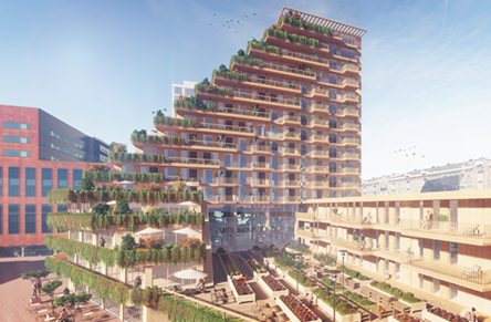 Wooden residential building Sawa in Rotterdam