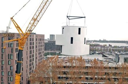 3 Silo houses placed on the roof of Harbour Club