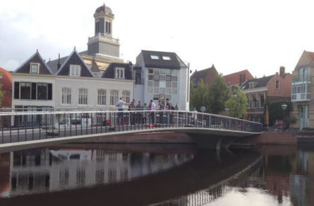 Construction of Catharina Bridge in Leiden complete